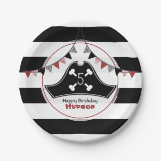 Pirate Hat Birthday Paper Plate