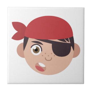 Pirate Head Small Square Tile