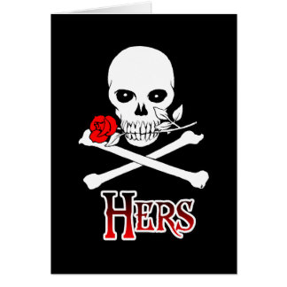 Pirate Hers Greeting Cards