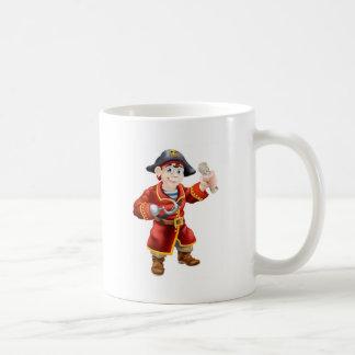 Pirate holding a treasure map coffee mugs