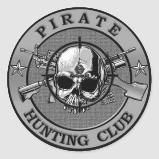 Pirate Hunting Club Stickers
