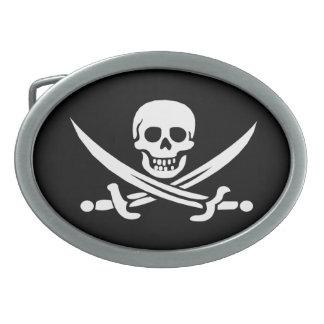 Pirate Jolly Roger Belt Buckle