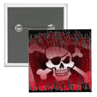 Pirate Jolly Roger Square Button