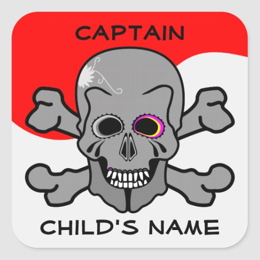 Pirate, Jolly Roger Sticker