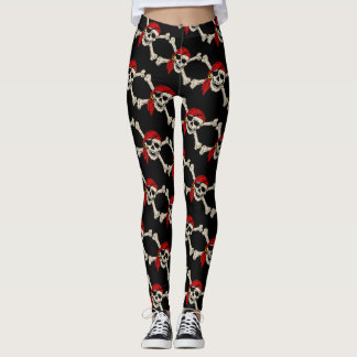 Pirate, Jolly Roger,style, Leggings