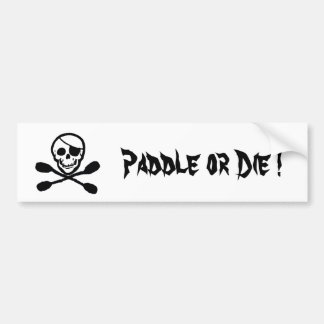 Pirate Kayak Flag Bumper Sticker