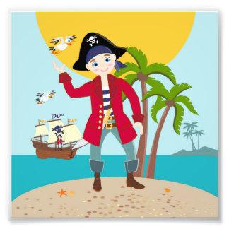 Pirate kid birthday party photo print