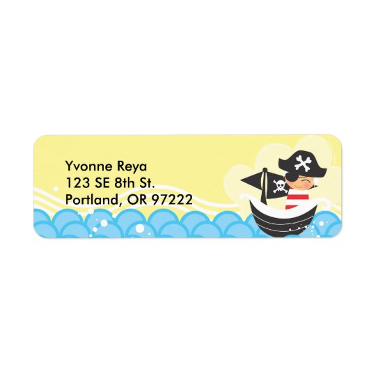 Pirate Kid Return Address Label