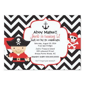 "Pirate Kids Birthday Party Invitation 5"" X 7"" Invitation Card"