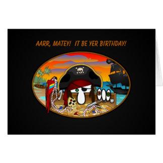 Pirate Kilroy Birthday Card
