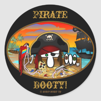 Pirate Kilroy Booty Sticker