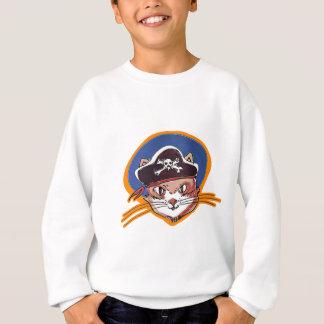 pirate kitty cartoon style funny illustration sweatshirt