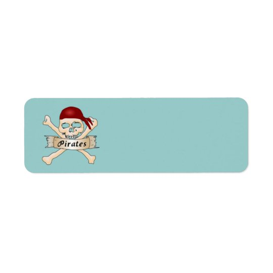 Pirate Label Return Address Label