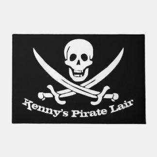 Pirate Lair Personalised Skull and Cutlasses Doormat