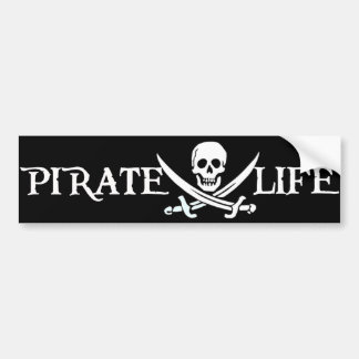 Pirate Life Caribbean Pirates Bumper Sticker