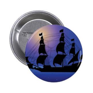 pirate life ship at sea pinback buttons