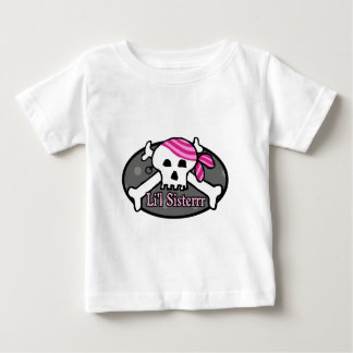 Pirate Little Sister Baby T-Shirt