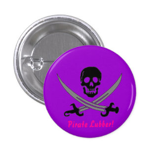 Pirate Lubber! 3 Cm Round Badge