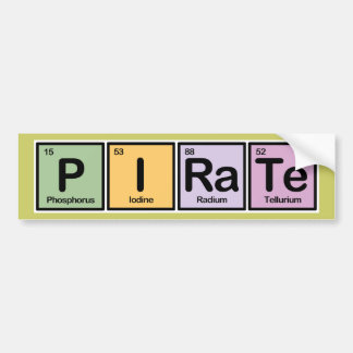 Pirate made of Elements Bumper Stickers