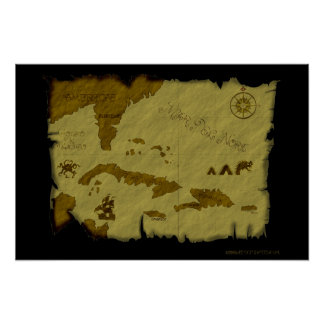 Pirate Map #1 Poster
