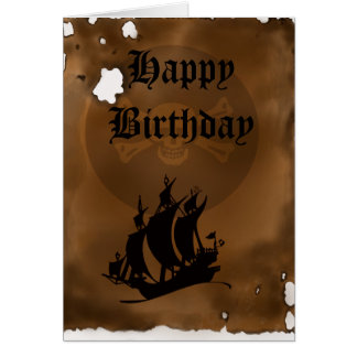 Pirate Map Birthday Note Card