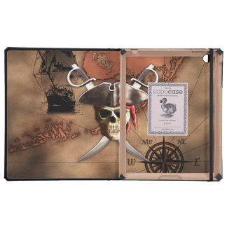 Pirate Map iPad Folio Cases