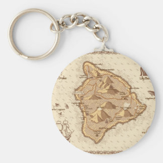 Pirate Map Key Ring