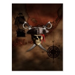 Pirate Map Postcards