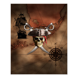 Pirate Map Print