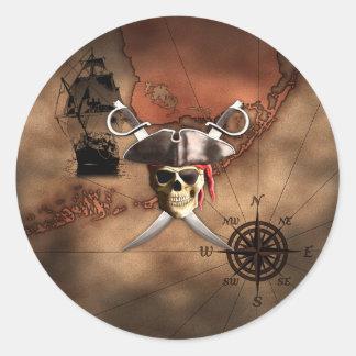 Pirate Map Stickers
