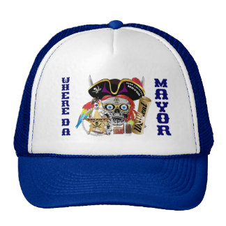 Pirate Mayor IMPORTANT Read About Design Trucker Hat