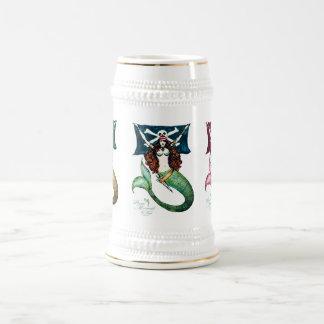Pirate Mermaid Tankard/Stein ~ by Kat Walker Beer Stein