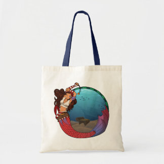 Pirate Mermaid Tote Budget Tote Bag