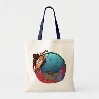 Pirate Mermaid Tote Canvas Bag
