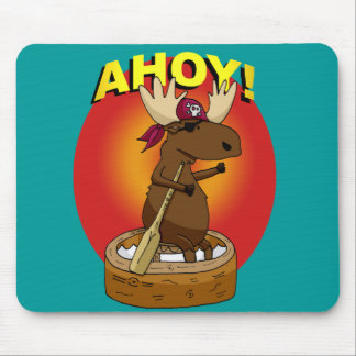 Pirate Moose Ahoy! Mouse Pad
