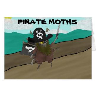 Pirate Moths! Greeting Card