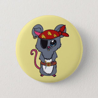 Pirate Mouse 6 Cm Round Badge