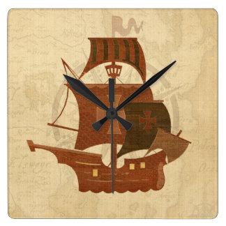 Pirate Mystery Ship Clocks
