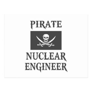 Pirate Nuclear Engineer Post Cards