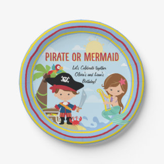 Pirate or Mermaid Paper Plate