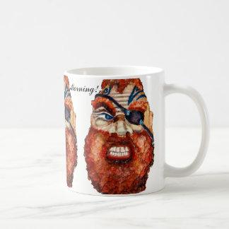 "Pirate painting ""Good Morning!"" Coffee Mug"