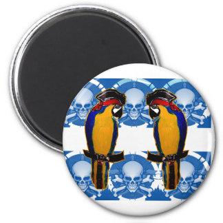 Pirate Parrots 6 Cm Round Magnet