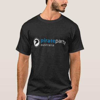 Pirate Party Australia Logo Shirt on Black