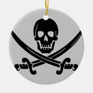 Pirate Party - FTW Round Ceramic Decoration