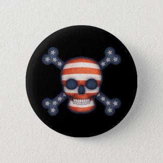 Pirate Patriot 6 Cm Round Badge