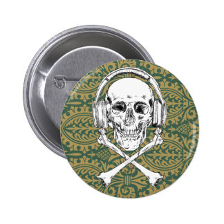 Pirate Pattern 6 Cm Round Badge