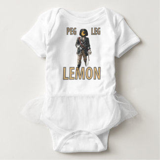 Pirate 'Peg Leg' Lemon Baby Bodysuit