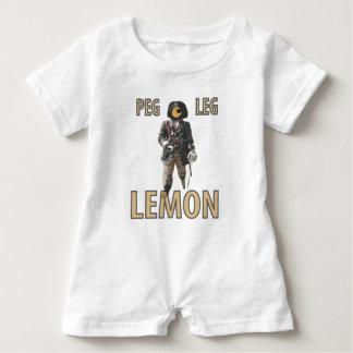 Pirate 'Peg Leg' Lemon Baby Bodysuit