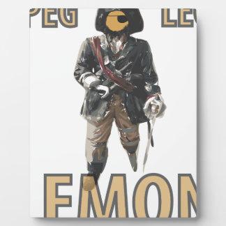 Pirate 'Peg Leg' Lemon Plaque