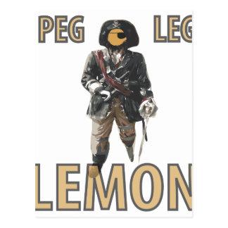 Pirate 'Peg Leg' Lemon Postcard